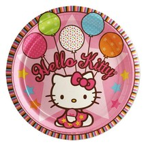 Hello Kitty Balloon Dreams Dessert Plates Birthday Party Supplies 8 Per ... - $4.11