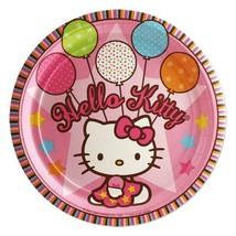 Hello Kitty Balloon Dreams Dessert Plates Birthday Party Supplies 8 Per Package - $4.11