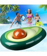 Zoostliss Inflatable Avocado Pool Float - Floatie with Ball Water Fun La... - $27.10