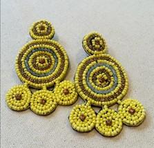 Pretty Style Bead Drop Dangle Seed Bead Earrings Fashion Jewelry Design - $13.00