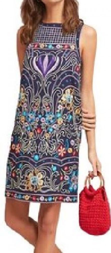 Anthropologie Kira Embroidered Tunic Dress by Maeve $295 Sz 0P - NWT
