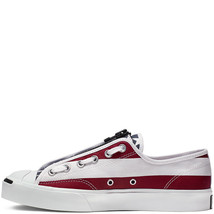 Converse x TheSoloist Jack Purcell Zip Low-Top white/garnet Shoes - $152.66