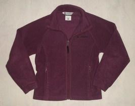 Columbia Plum Fleece Jacket Youth Girls Size 10/12 - $19.99