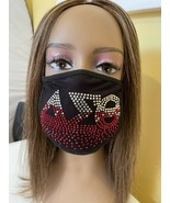 Delta Sigma Theta Red Roots Rhinestone Bling Face Mask  - £13.27 GBP