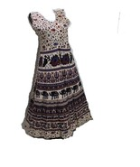 RAJASTHANI JAIPURI TRADITIONAL WOMEN'S HAND BLOCK PRINTED ONE PIECES GOWN . - $17.30