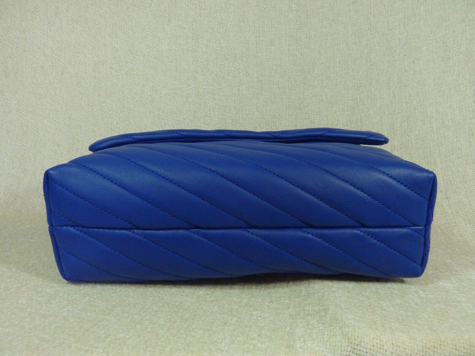 NWT Tory Burch Nautical Blue Kira Chevron Convertible Shoulder Bag image 7