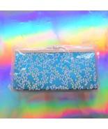 asian brocade blue floral evening purse clutch bag - $19.99
