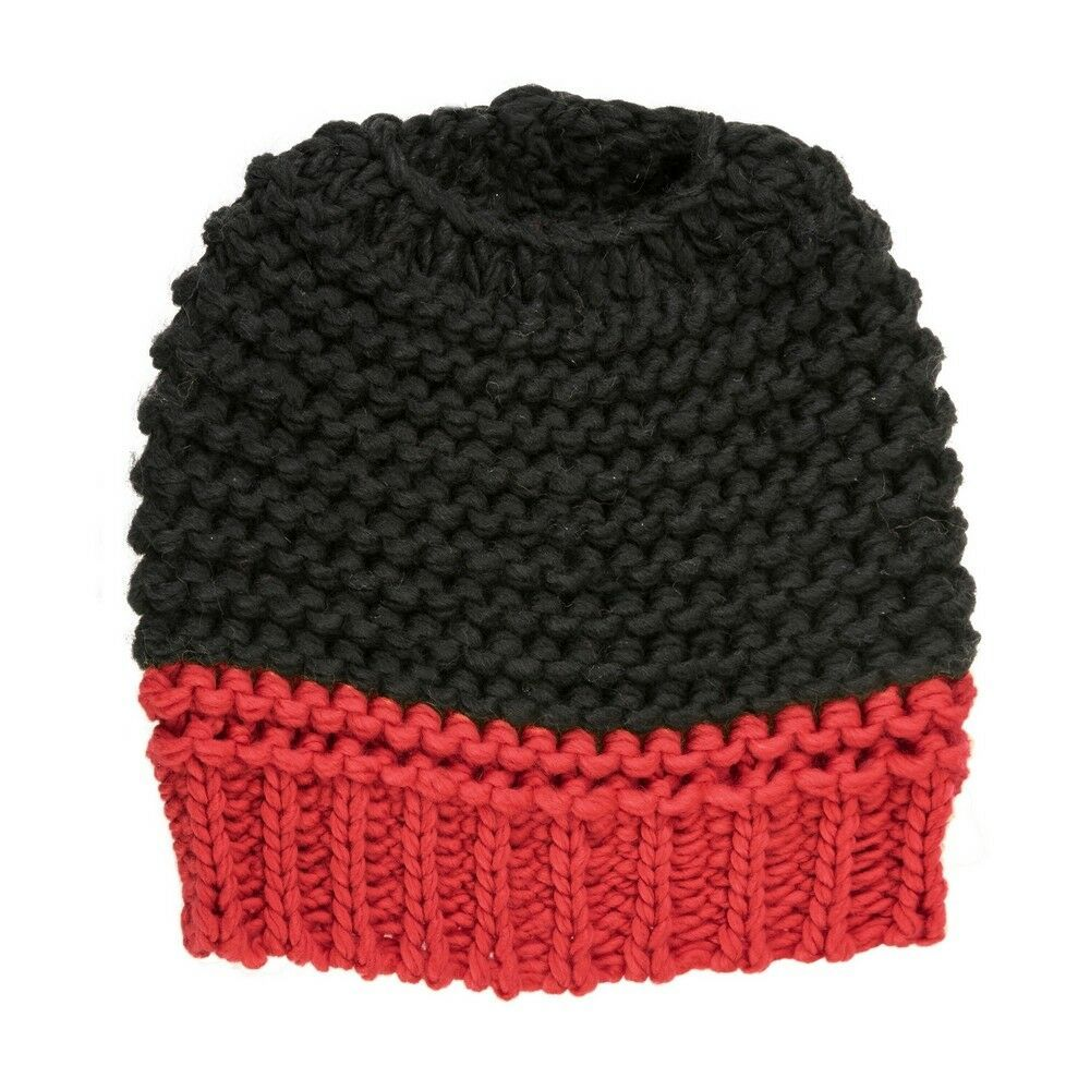 Primary image for Red and Black Messy Bun Ponytail Beanie Cap - UGA Bulldogs ATL Falcons