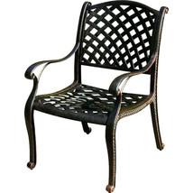 11 piece cast aluminum dining set outdoor patio furniture Nassau table chairs image 2