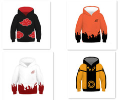 Children Hokage Ninjia Jacket Hoodie 3D Animation Clothes Cosplay Coat - $19.99