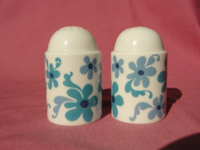 Primary image for ROSENTHAL Porcelain China - BLUE FLOWER (duo shape) - SALT & PEPPER SHAKERS
