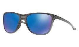 Oakley Reverie POLARIZED Sunglasses OO9362-0655 Grey Smoke W/ Sapphire I... - £63.99 GBP