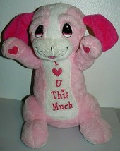 "Dan Dee I love U This Much Pink Puppy Stuffed Plush Toy 18"" - $12.92"