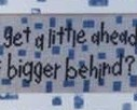 Bigger Behind cross stitch chart Angel Stitchin
