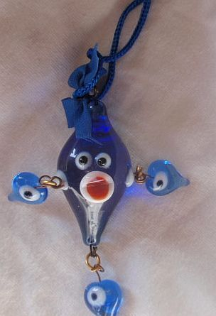 Blue Evil Eye doll