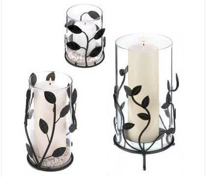 Laurel Branch Candle Lantern Trio candleholders