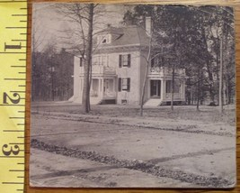 Cabinet Card Old Two Story House Early 1900`s Dirt Street! - $1.60