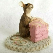 1993 After The Party MOUSE WITH CAKE MM10080 MUNRO Figurine - $12.95