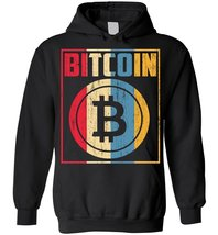 Retro Vintage Distressed Bitcoin Cryptocurrency Trader Blend Hoodie - $35.99+
