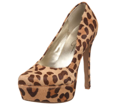 Jessica Simpson Platform Heels Size 9 Waleo2 Animal Print Calf Hair Womens  - $41.35