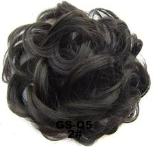Natural Color Curly Messy Bun Hair Piece Scrunchie Hair Extension image 12