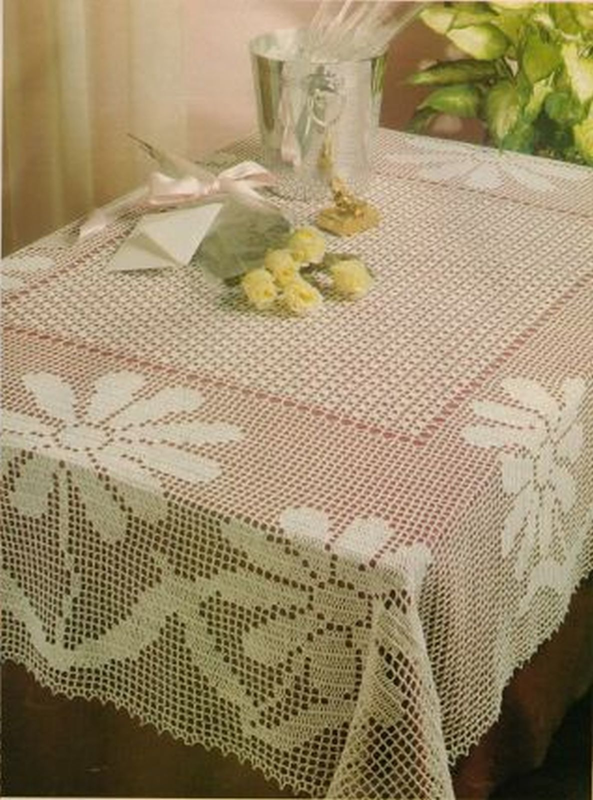2X Challenging Butterflies Grand Party & Big Day Tablecloth Crochet Patterns image 2