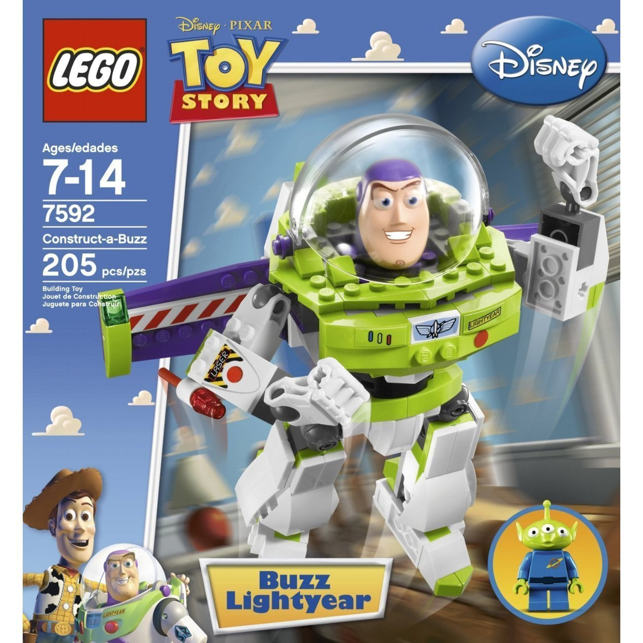 Buzz lightyear toy story lego set 7592 building toy disney - Lego toys story ...