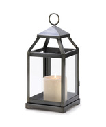 Rustic Brushed Silver Candle Lantern - $29.00