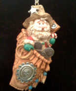 Southwestern Gun Holster Cowboy Santa Christmas Ornament - $12.50