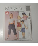 McCall's 2599 Size 2 3 4 Children's Top Pull-on Pants Shorts - $11.64