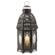 Black Lattice Candle Lantern - $24.00