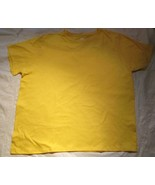 Women's T-shirts Hanes Just My Size 1X 16W Tag Less Yellow 100 % Cotton  - $4.99