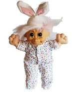 Troll Doll In Jelly Bean Polka Dot & Bunny Suit with Pink Hair & Blue Ey... - $49.49