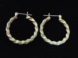 Lovely Pair of Vintage Estate 14K Yellow Gold Hoop Earrings 2.1g E973 - $130.00