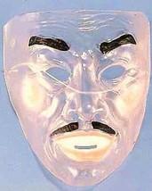 Transparent Flesh Tone Man - Black Moustasche & Eyebrows Mask Bank Robber Bandit - $8.49