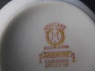 Vintage Noritake China Dinnerware Daventry Pattern Coffee Cup SAUCER Only Japan