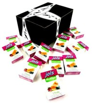 Jols Sugar Free 3 Fruits Pastilles, 0.88 oz Packets in a BlackTie Box Pack of 12