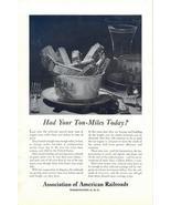 1948 Association of American Railroads Ton-Miles print ad - $10.00
