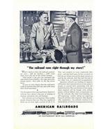 1946 American Railroads community developing print ad - $10.00