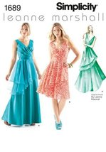 Simplicity 1689 Misses' Dresses Leanne Marshall Collection Sewing Patter... - $11.76