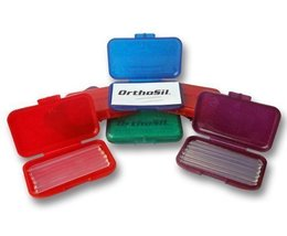 Orthosil Silicone Wax ~ Relief for Orthodontic Braces 1 Box of 6 Strips ... - $4.95