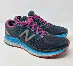 New Balance Sneakers Fresh Foam 1080 v6 Black Turq Shoes 10.5 Womens - $25.47