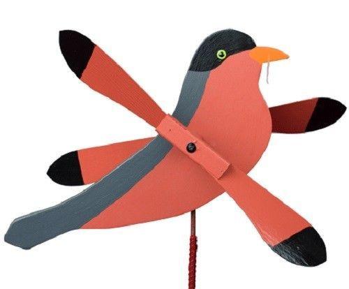 ROBIN WIND SPINNER Amish Handmade Whirlybird Weather Resistant Whirligig USA - $73.47