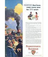1946 Pennsylvania Railroad 100 years progress print ad - $10.00