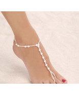 Bridal Sandals Barefoot Beach Wedding Foot Wear Jewelry All Pearls Bride... - $24.99