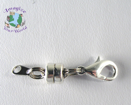Magnetic Clasp Converter SILVER PLATED 6 mm Mag Lok + Lobster Clasp + Ey... - $3.75
