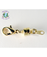 Magnetic Clasp Converter GOLD PLATED 6 mm Mag Lok + Lobster Clasp + Eyel... - $3.75