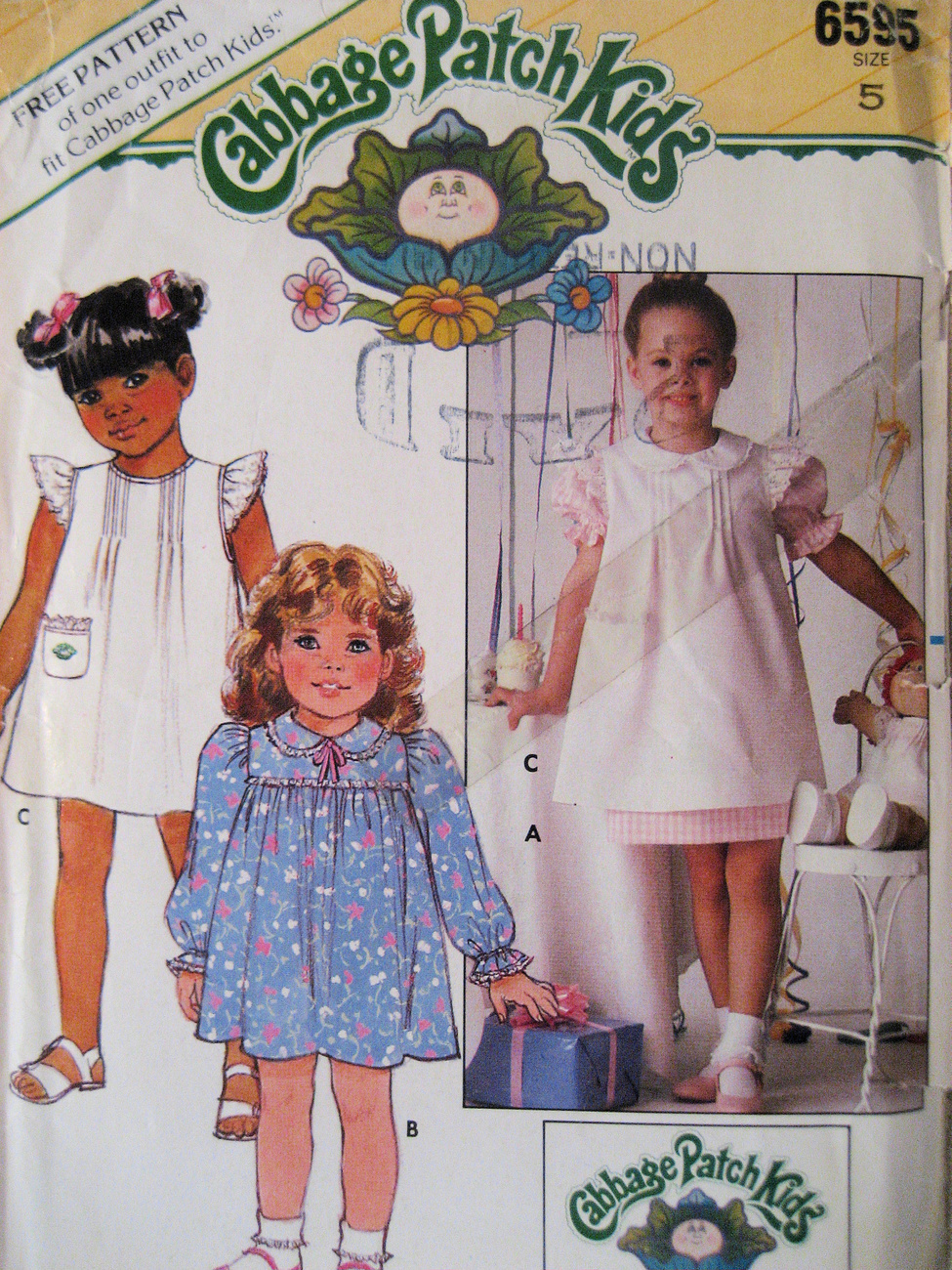 Primary image for Simplicity 6595 New Pattern Girls 5 Cabbage Patch Kids Dress