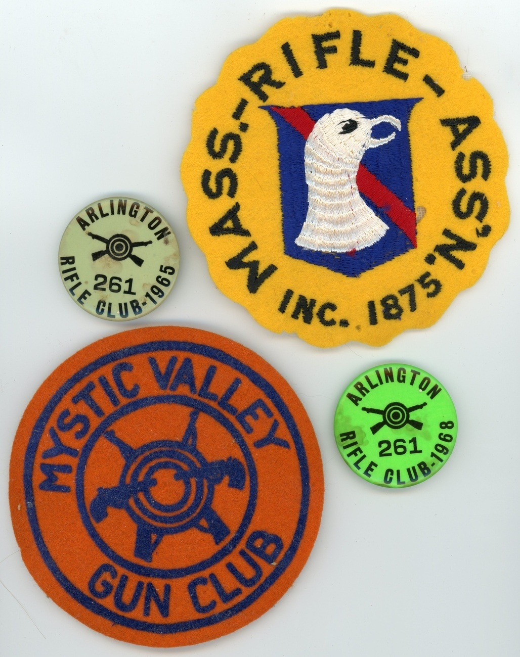 lot 12 vintage shooters patches pins New England MO Camp Richie sporting collect