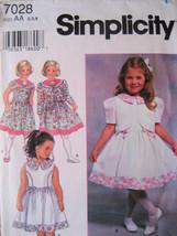 Simplicity 7028 New Pattern Girls 2 to 4 Dress Jacket - $6.95